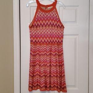 Trina by trina turk bright chevron knit dress